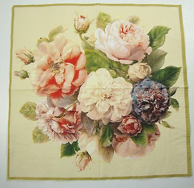 English Flower Paper Napkins Fairy Roses Ideal Home Range IHR