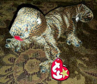 8b36808f995 TY Beanie Baby IGGY the Iguana dark fabric w spikes 95 inch