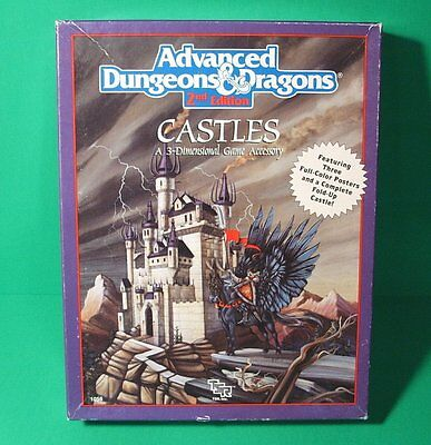 CASTLES Advanced Dungeons & Dragons 2nd Edition Game Accessory 1056 Unpunched