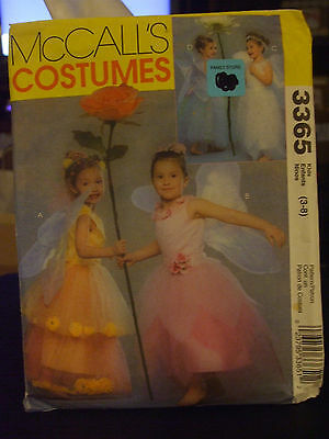 McCall's 3365 Girl's Flower Fairy Costume Pattern - Size 3-8