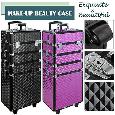 Extra Large Space Storage Beauty Box Make up Nail Cosmetic Vanity Case Trolley