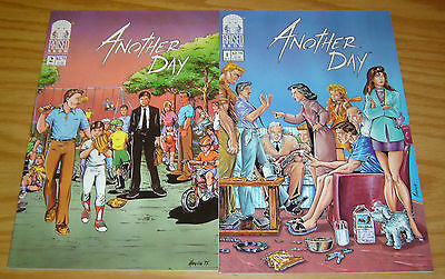 Another Day #1-2 VF/NM complete series - raised brow comics - mario miranda set