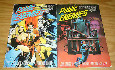 Public Enemies #1-2 VG complete series - john dillinger - most wanted gangsters
