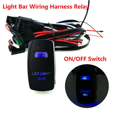 40a 300w relay fuse wiring harness led light bar on off laser 12v 300w offroad atv jeep led light bar wiring harness relay on off switch 5