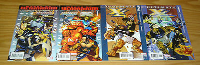 Ultimate X4 #1-2 VF/NM complete series + (2) annuals - fantastic four x-men set