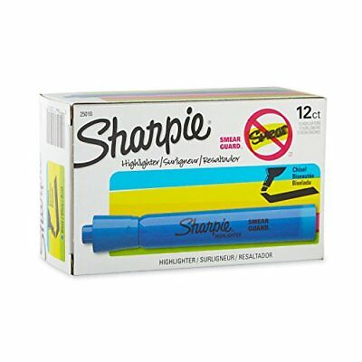 Sharpie 25010 Accent Tank-Style Highlighter, Fluorescent Blue, 12-Pack New