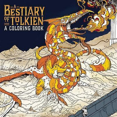 A Bestiary of Tolkien : A Coloring Book (2016, Paperback)