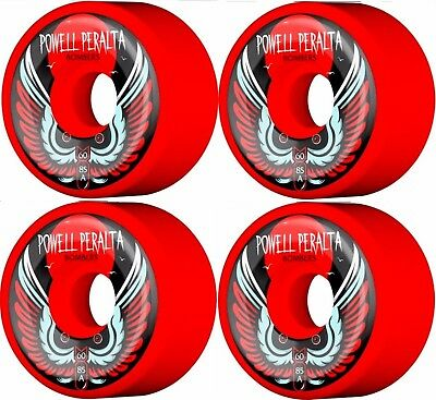 Powell Peralta Bomber III Red Skateboard Wheels, 60mm 85a duro