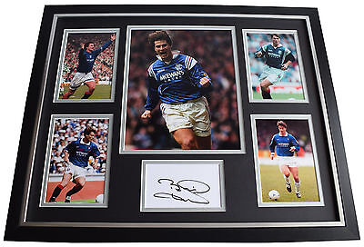 Brian Laudrup SIGNED Framed Photo Autograph Huge display Rangers Football COA