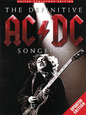 Ac/Dc Definitive Angus Young Guitar Tab Song Music Book