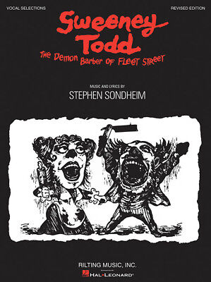 Sweeney Todd Piano Vocal Sheet Music Song Book New