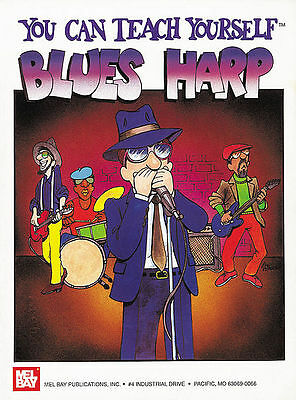 Teach Yourself Blues Harp Harmonica Book Beginner New