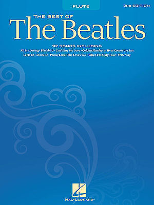 Best Of The Beatles Flute Sheet Music Song Book New