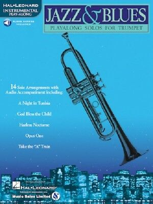 Jazz & Blues Play Along Solos For Trumpet Song Book New