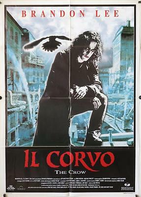 901 THE CROW Italian 1p '94 Brandon Lee's final movie, cool different image