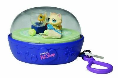 Littlest PET Shop Kitten & Fish Bowl LPS Action Toy Take-Along Clip-On retired