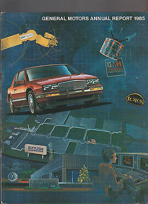 General Motors Annual Report GM 1985 Cadillac Saturn Buick Olds