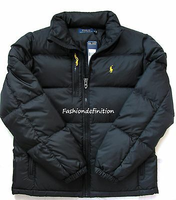 New Polo Ralph Lauren Men Polo Black Winter Snow Quilted Trek Puffer Down Jacket