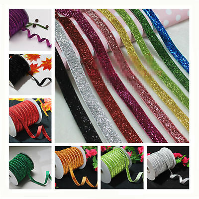 "Hot 5/10/50yd 3/8 ""10mm Velvet Ribbon Headband Clips Bow Wedding Decoration"