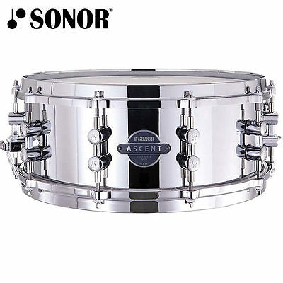 Sonor Ascent Steel Shell Snare Drum 14 x 5.5 inch with Die Cast Hoops
