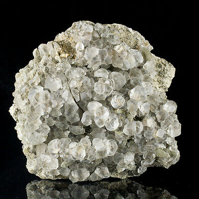 """8"""" Clear Cube-Octahedral FLUORITE Crystals on Quartz Huanggang Mongolia for sale"""
