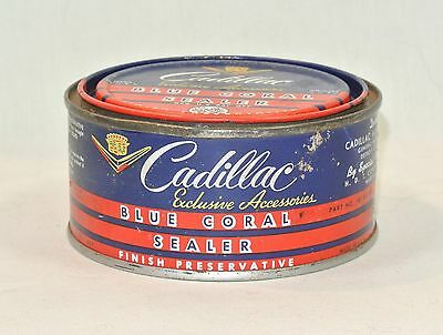 Vintage CADILLAC Blue Coral Sealer CAN Container Finish Preservative