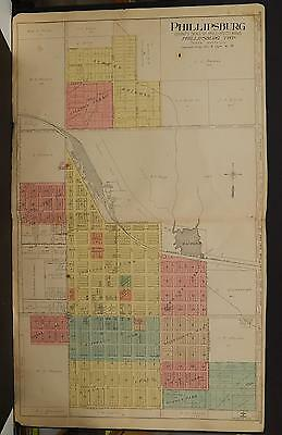 Kansas, Phillips County Map, 1917 Phillipsburg, Double Page P3#28