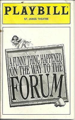 Playbill A Funny Thing Happened On The Way To The Forum David A Grier Nov 1997