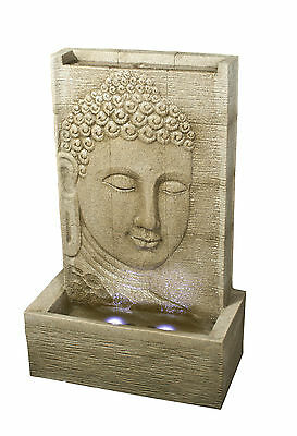 Large Outdoor Buddha Sandstone Effect Garden Feature Statue Water Fountain