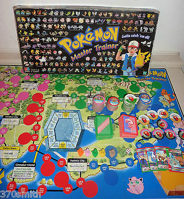 Pokemon Master Trainer Board Game Spare Cards Tokens Playing Pieces Dice