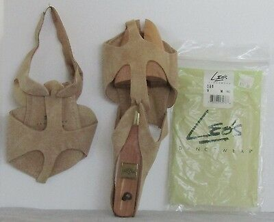 NLA Tan NEW $17 LEO S Adult HALF SOLE Sandal 086 Sz 9 M LYRICAL Shoe MODERN Danc