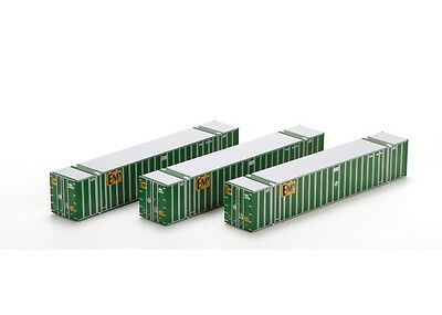 Athearn ATH72537 HO Scale RTR 53' Stoughton Container EMP #2 Pack (3)