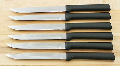 Rada Cut. W204 Set Of Six Utility/steak Knives Black Handle Same As G206