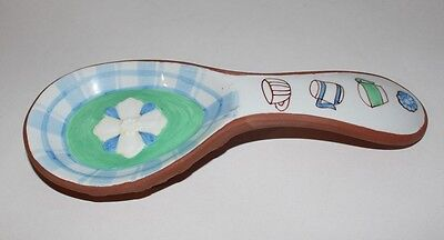 "RUSS - ""Cozy Kitchen Collection"" - Ceramic Red Pottery Spoon Rest"
