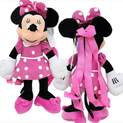 "Backpack 17"" Full Body Plush Disney Minnie Mouse Doll Toy bag Birthday gift NEW"