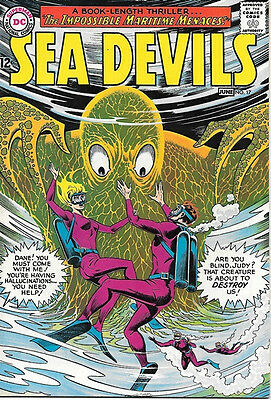 Sea Devils Comic Book #17, DC Comics 1964 VERY FINE