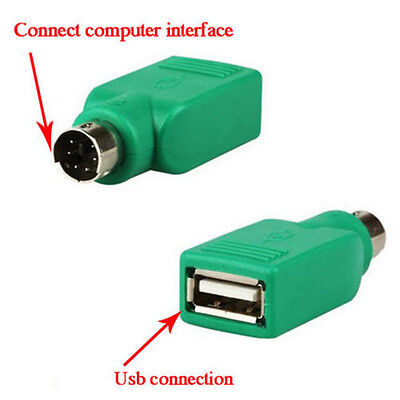 2x USB Female in to PS2 Male Adapter Converter For Computer Keyboard Mouse Hot