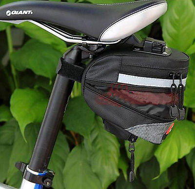 2016 Black Cycling Bike Bicycle Seat Saddle Rear Extensible Bag Quick Release