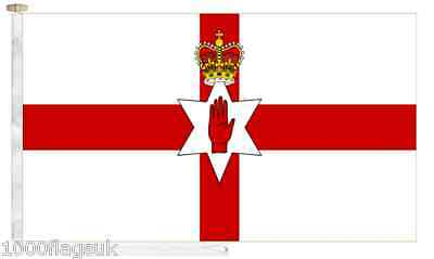 Northern Ireland Roped & Toggled 2 Yard Boat Flag