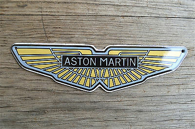 Heavy quality porcelain advertising sign Aston Martin wings garage plaque