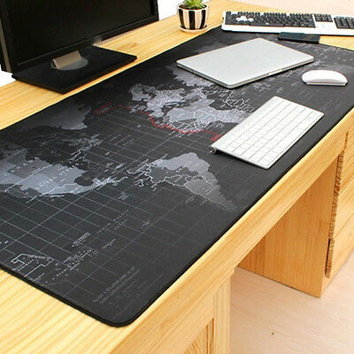 Map Large Non-Slip Rubber Thick Gaming Mouse Pad Mat For Pc Keyboard Durable