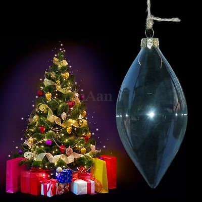 Glass Christmas Tree Decor Ball Bauble Hanging Home Xmas Party Ornament Decor