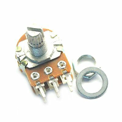 10PCS B100K OHM Audio Amplifier Rotary Double Potentiometer 15MM Shaft 6P