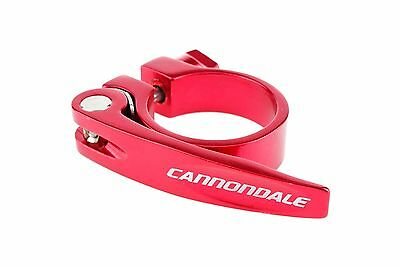 Cannondale Road Mountain Cyclocross Bicycle Bike Seatpost Clamp w/QR 34.9mm Red