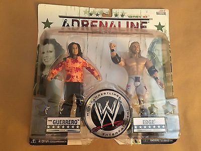 WWE Adrenaline Series 33 Vickie Guerrero & Edge Wrestling Figures Set New