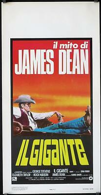 R031 GIANT Italian locandina R83 best image of James Dean reclined in car,