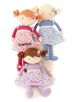 Personalised Embroidered Girls Rag Doll Powder Puff Range 45cm Large