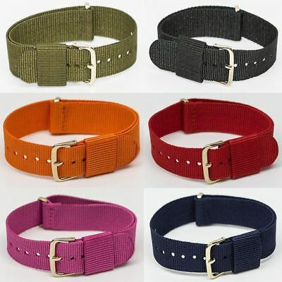 CLEARANCE Nato watch strap nylon army mod style 6 colours 18mm 22mm divers zulu