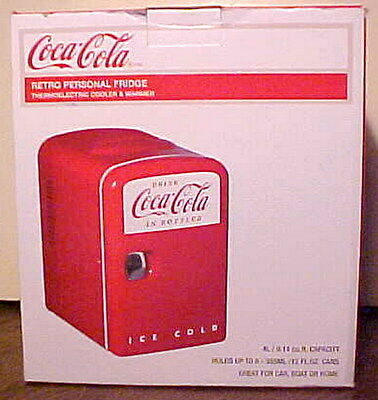 New Coca-Cola Personal Refrigerator 6 12 Oz. Cans Cooler & Warmer Car, Boat,home