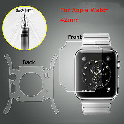 Full Body Screen Protector Back Front All Side Skin Shield For Apple iWatch 42mm